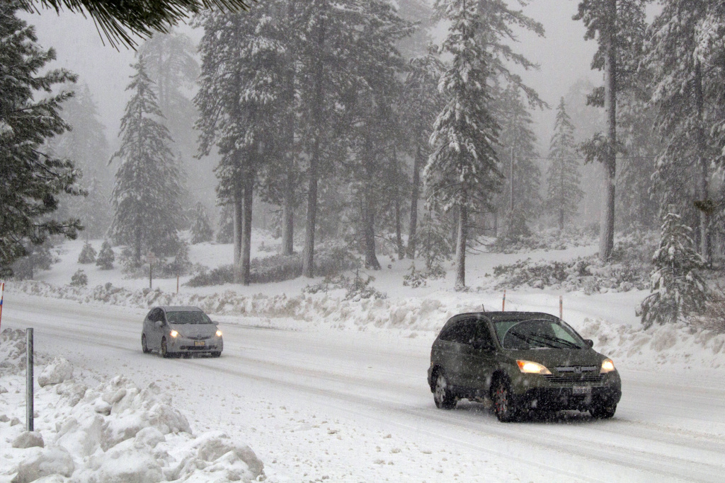 The Running Springs area near Lake Arrowhead received 10 to 12 inches of snow Tuesday and expects another foot or more Wednesday.