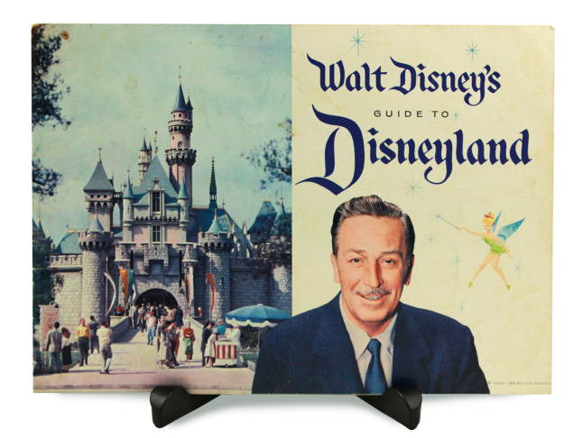 The first Disneyland guide book signed by Walt Disney. (Courtesy Van Eaton Galleries)