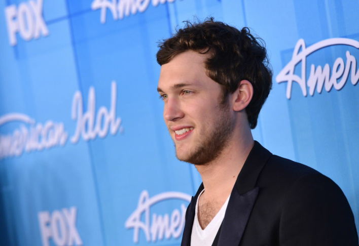 American Idol winner Phillip Phillips poses in the press room during Fox's