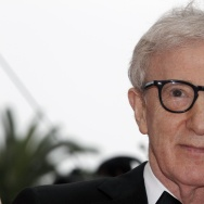 US director Woody Allen poses on the red