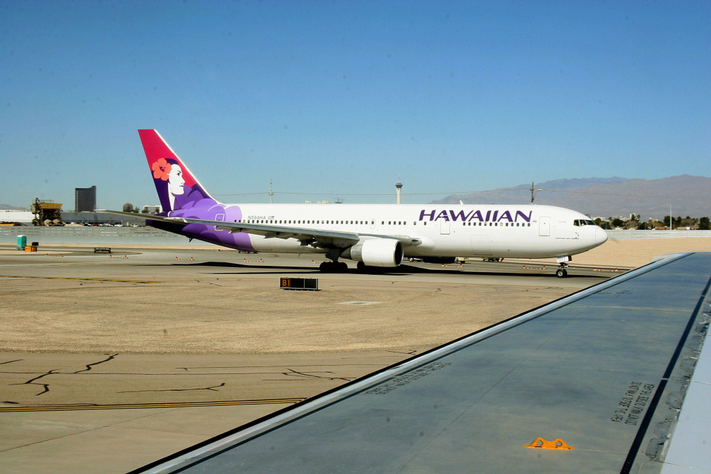 File photo: A Hawaiian Airlines airplane. Hawaiian Airlines Flight 3 landed about 2:18 p.m. Monday after the cockpit light indicating a potential problem came on, and the pilot returned as a precaution.