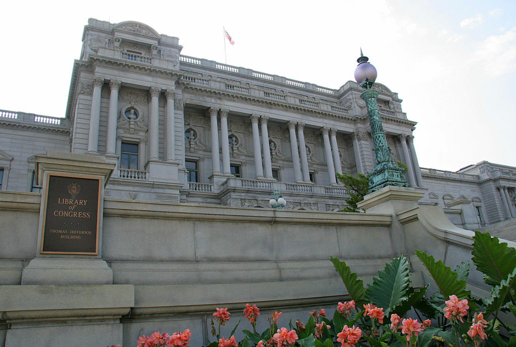 The front facade of the US Library of Congress in Washington, DC. The National Recording Registry is adding to its collection 25 recordings that shaped the American cultural landscape.