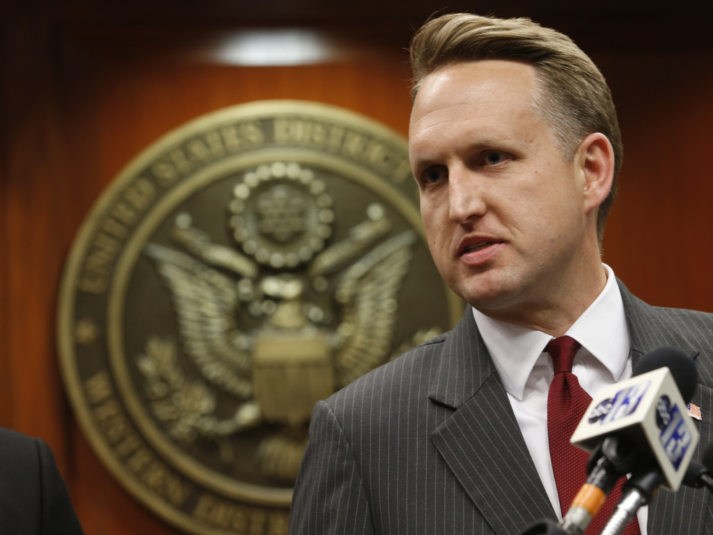 John Gore, the acting head of the Justice Department's civil rights division, speaks during a June news conference in Charlottesville, Va. Gore leads the division that says it needs the 2020 census citizenship question to better enforce the Voting Rights Act's protections against racial discrimination.