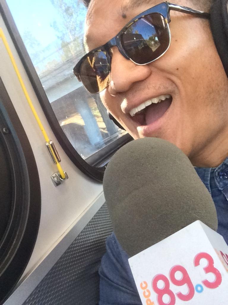KPCC's Leo Duran rides the Santa Monica Big Blue Bus from downtown LA to Santa Monica.
