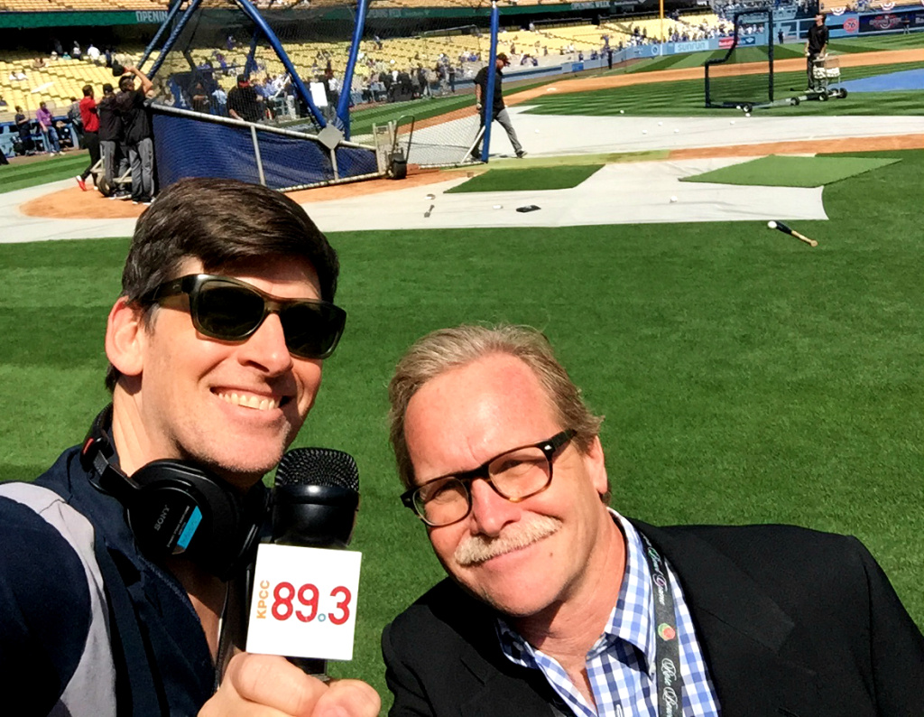 KPCC's John Rabe with the LA Times Chris Erskine, who believes the Dodgers will work out a TV deal in the next five years.