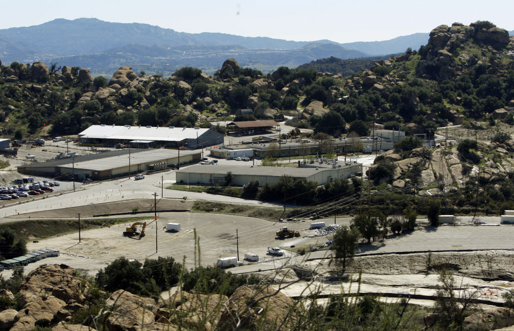 This Feb. 12, 2009 photo shows buildings at the old Rocketdyne facility, the Santa Susana Field Laboratory, in the Simi Valley area near Los Angeles.