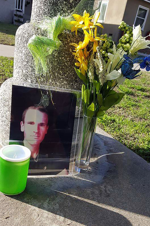"A memorial for John Berry, shot and killed by sheriff's deputies. ""I've known my brother long enough he didn't mean to hurt anybody,"" said his brother Chris Berry. ""He was terrified."""