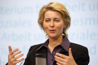 Ursula von der Leyen, the German labor minister, says voluntary gender quotas set by companies won't be sufficient.