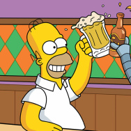 homer and bender drink a beer robot simpsons