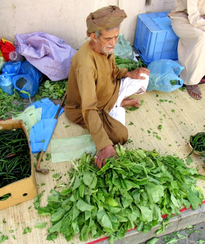 Vegetable dealer in Nizwa souk