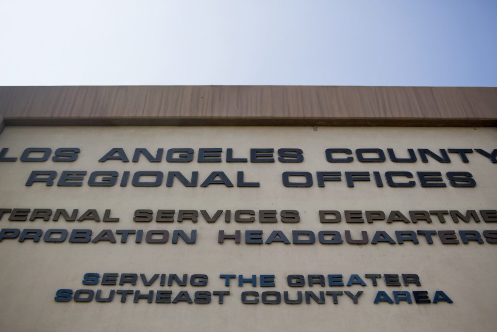 The Los Angeles County Probation Department's administrative office in Downey.