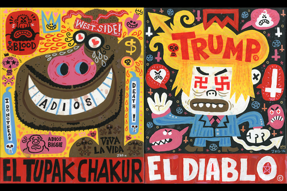 Paintings by artist Jorge Gutierrez.
