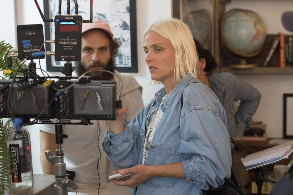 "Katja Blichfeld and Ben Sinclair, co-creators of ""High Maintenance,"" on the set of the HBO series."
