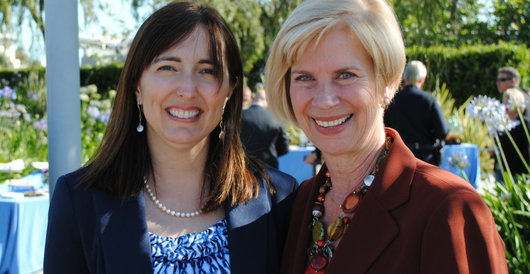 Manhattan Beach Mayor Amy Howorth, left, has been endorsed by South Bay Congresswoman Janice Hahn in her campaign for a state senate seat.
