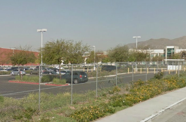 A screen shot from Google street view of Patriot High School in Riverside County.