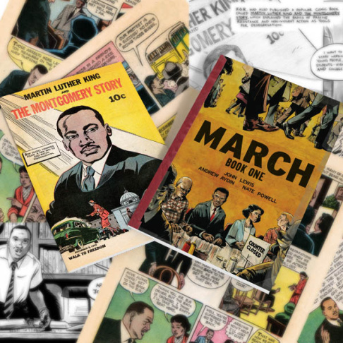 March is a vivid first-hand account of John Lewis' lifelong struggle for civil and human rights, meditating in the modern age on the distance traveled since the days of Jim Crow and segregation.