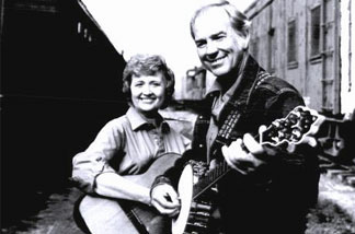 Rusty (left) and husband Keith McNeil play together.