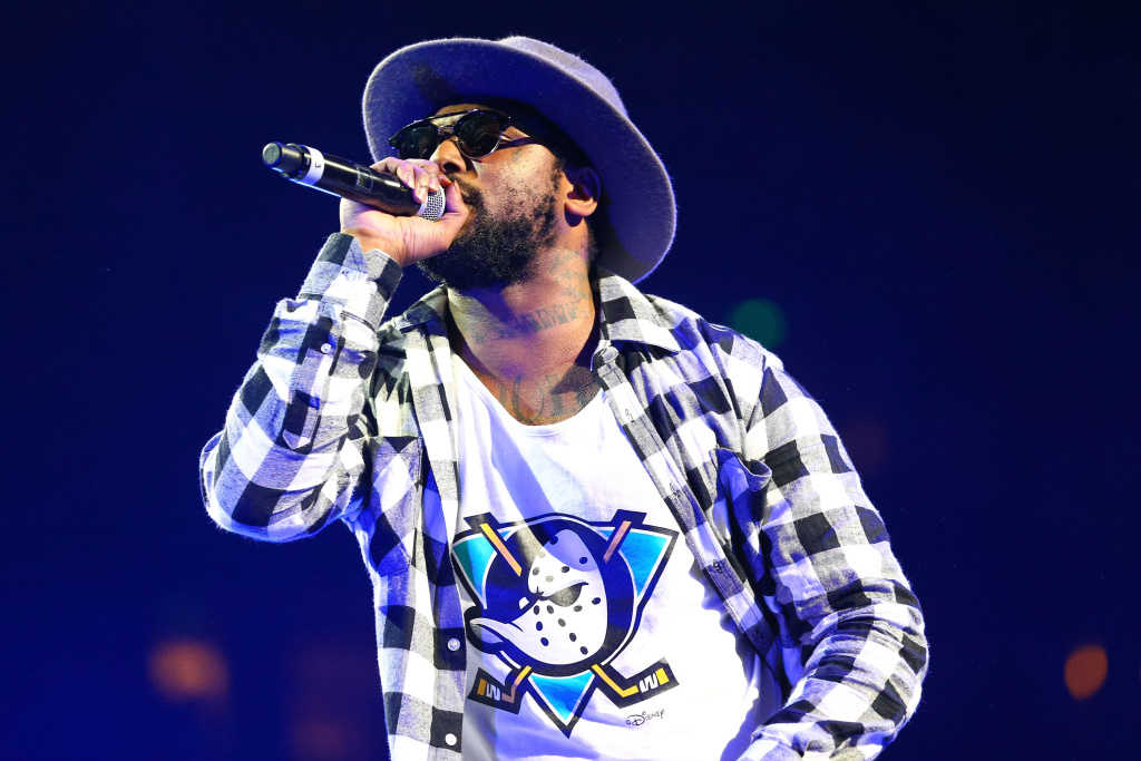 Rapper ScHoolboy Q performs onstage at Power 106 FM's Powerhouse at Honda Center on May 17, 2014 in Anaheim.