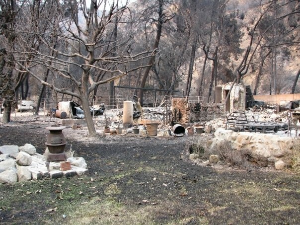 Adi Ell-Ad's home after the fire.