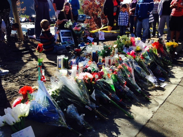 paul walker fast furious star remembered at crash site by fans friends map video 89 3 kpcc. Black Bedroom Furniture Sets. Home Design Ideas