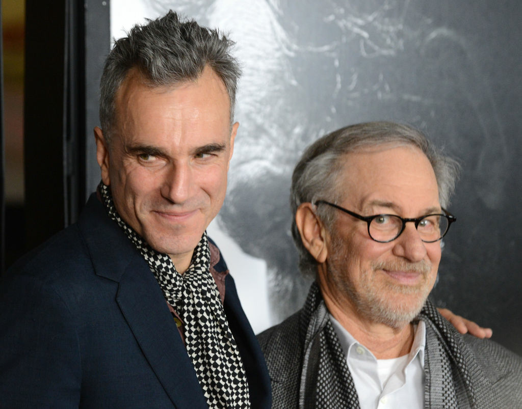 Cast member Daniel Day-Lewis (L) and director Steven Spielberg arrive for the closing night Gala Screening of 'Lincoln' at the AFI Fest in Hollywood, California November 8, 2012. The two received nominations for the 70th annual Golden Globes early next year.