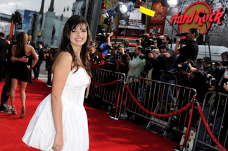 Singer Rebecca Black arrives at the premiere of Walt Disney Pictures' 'Prom' at the El Capitan Theater on April 21, 2011 in Los Angeles.