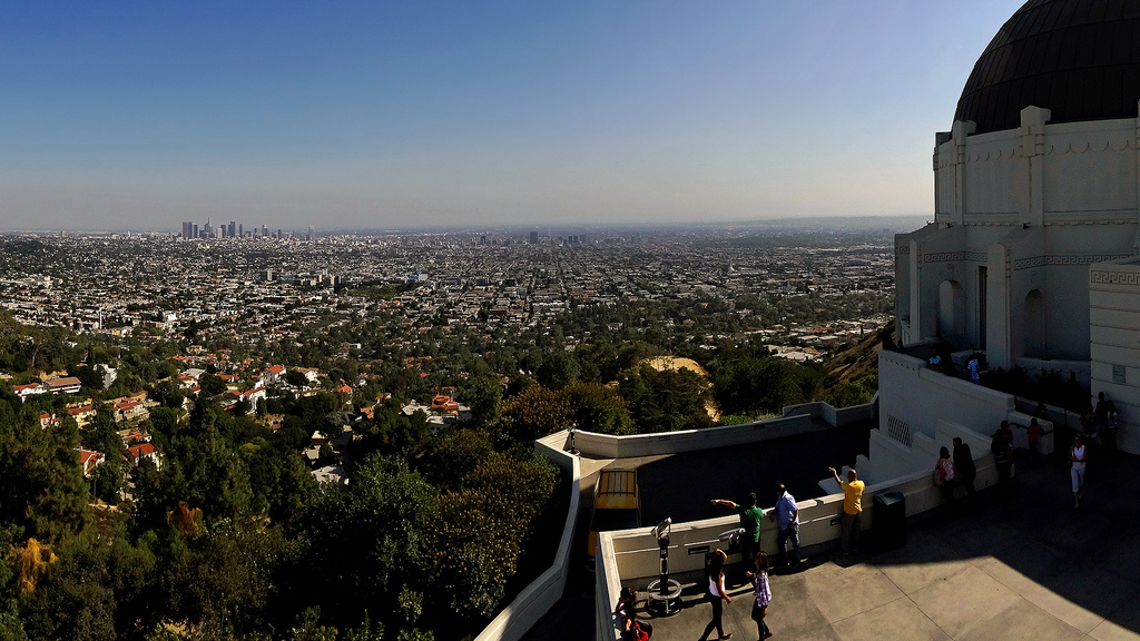 View of Los Angeles from Griffith Observatory.