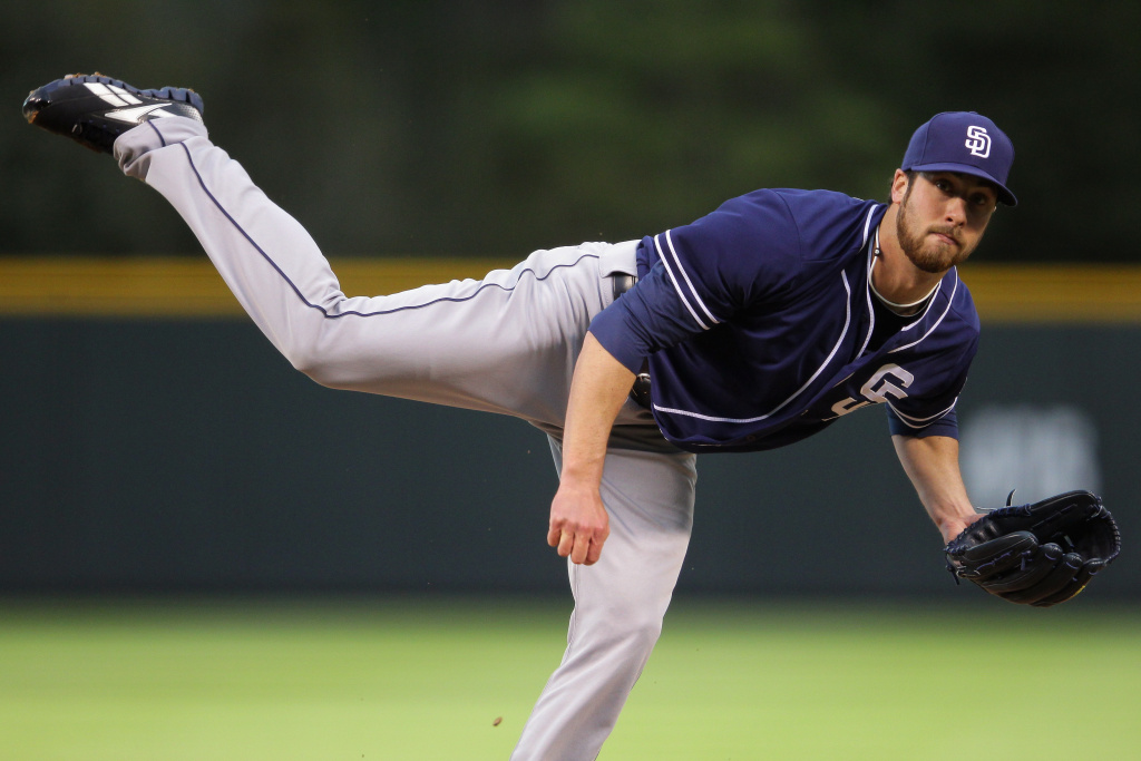 Starting pitcher Anthony Bass of the San Diego Padres. The team could be nearing a sale for $800 million.