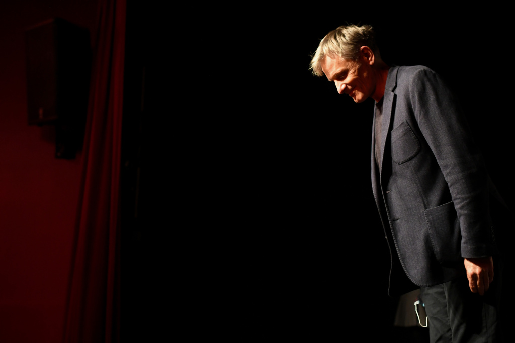 Viggo Mortensen attends a Master Class at the 12th Film Festival Lumiere on October 12, 2020 in Lyon, France.