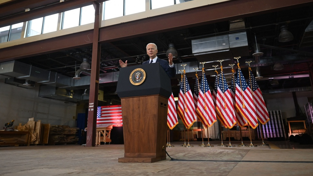 President Biden unveils his $2 trillion infrastructure measure Wednesday in Pittsburgh.