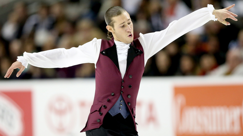Jason Brown competed in the men's short program during the 2018 U.S. Figure Skating Championships in San Jose, Calif., with a song from