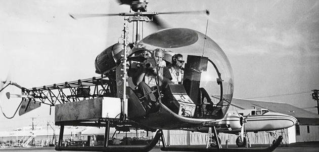 In 1958 the first TV news helo, KTLA's Telecopter, debuted in L.A.