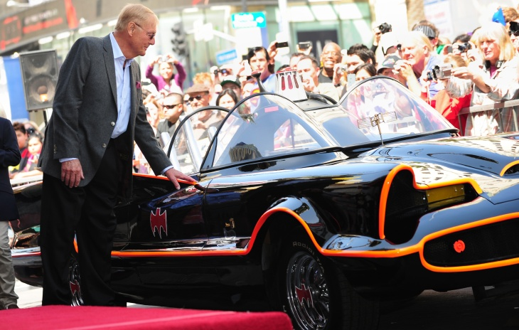 Adam West receives his star on Hollywood's Walk of Fame on April 5, 2012 in Hollywood, California.