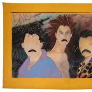 """Art by Teddy Sandoval, """"Las Locas,"""" c. 1980. This is on display at MOCA Pacific Design Center as part of """"Axis Mundo: Queer Networks in Chicano L.A."""""""