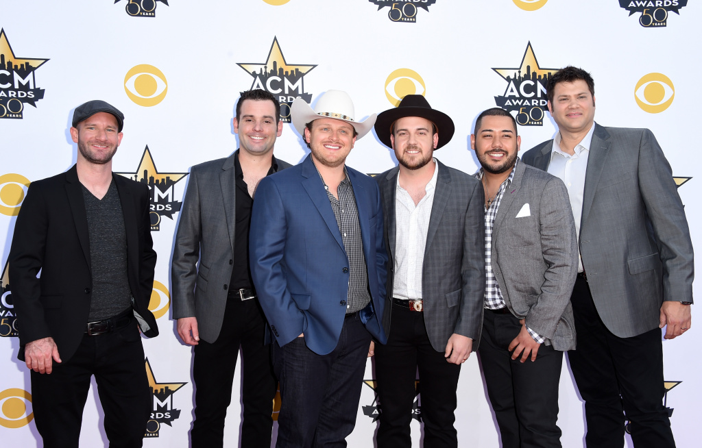 Caleb Keeter (second from left) of the Josh Abbott Band called for stricter gun control after the shooting at the Route 91 Harvest festival, where the group performed.