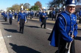 Compton High School was among several schools to have marching bands in the Kingdom Day parade.