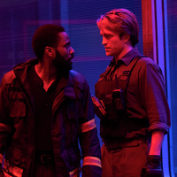 l-r) John David Washington and Robert Pattinson in Warner Bros. Pictures' action epic