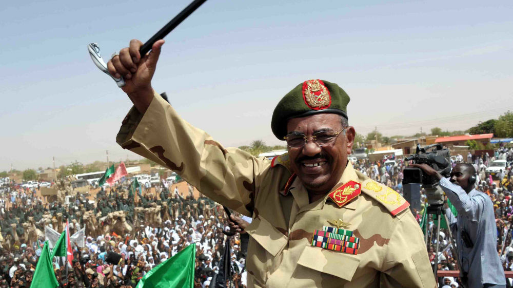 Sudanese President Omar al-Bashir visits the southern town of El-Obeid on April 19 amid rising tensions with South Sudan.