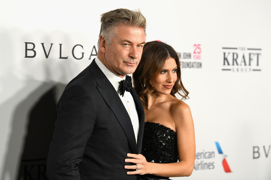 Alec and Hilaria Baldwin attend the Elton John AIDS Foundation's Annual Fall Gala on November 7, 2017 in New York City.