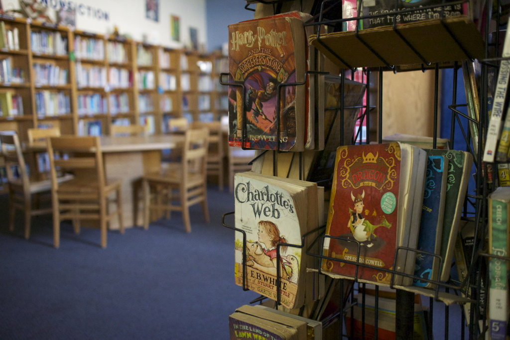 Lots of copies of Charlotte's Web and Harry Potter are collecting dust in school libraries, because the kids can't get to them.