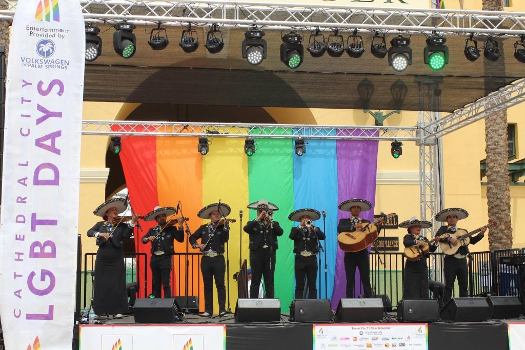 Mariachi Arcoiris bills itself as the first LGTBQ mariachi group.