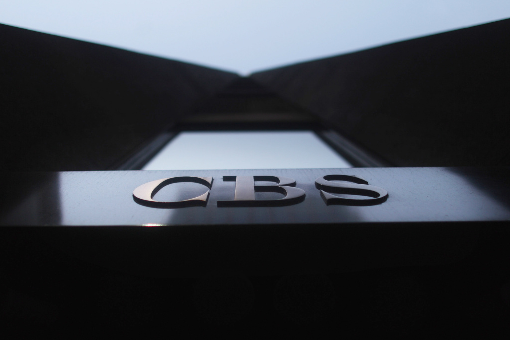 The CBS headquarters in Manhattan in New York City on April 8, 2012.