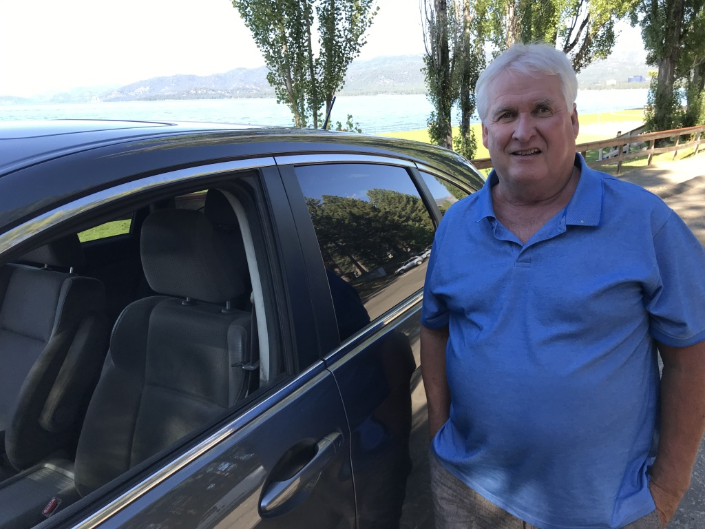 Keith Cooney has been driving for Uber in South Lake Tahoe for more than three years, Aug. 26, 2019.