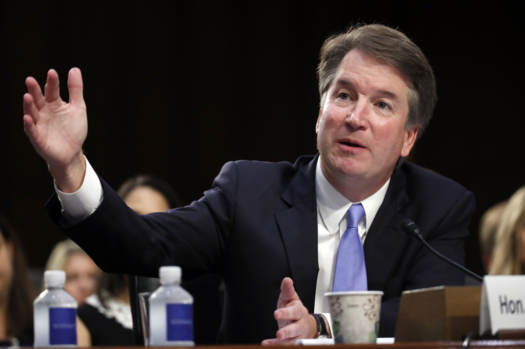 Supreme Court nominee Brett Kavanaugh testifies before the Senate Judiciary Committee on Sept. 6, the third day of his confirmation hearing to replace retired Justice Anthony Kennedy.