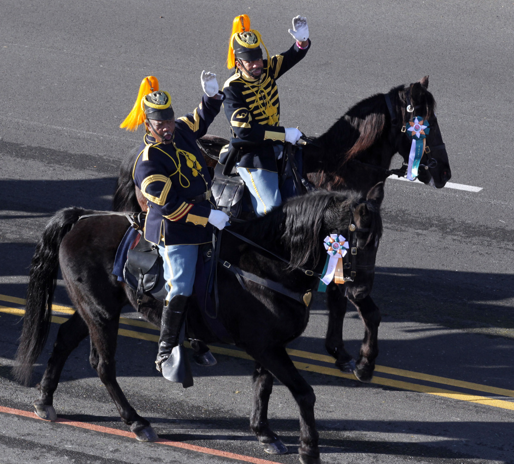 Riders on horse back perform during the 122 annual Tournament of Roses Parade presented by Honda on January 1, 2011 in Pasadena, California.
