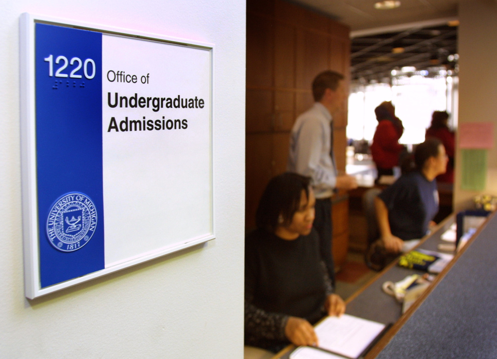Workers staff the Undergraduate Admissions office at the University of Michigan, which was the subject of a U.S. Supreme Court case concerning affirmative action in 2003.