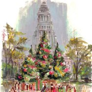 Grand Park Christmas trees by artist Mike Sheehan