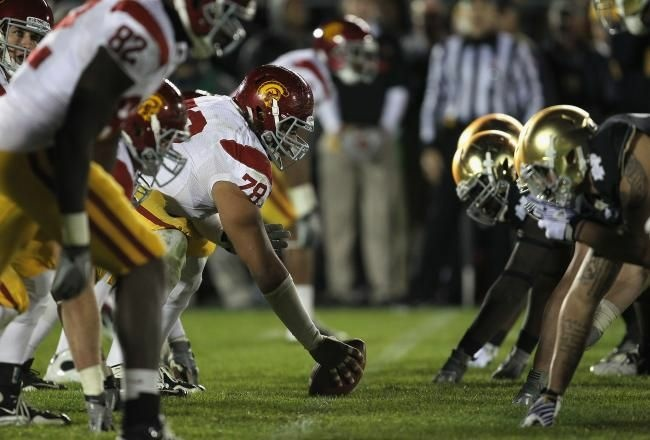 USC lined up against Notre Dame in 2011.