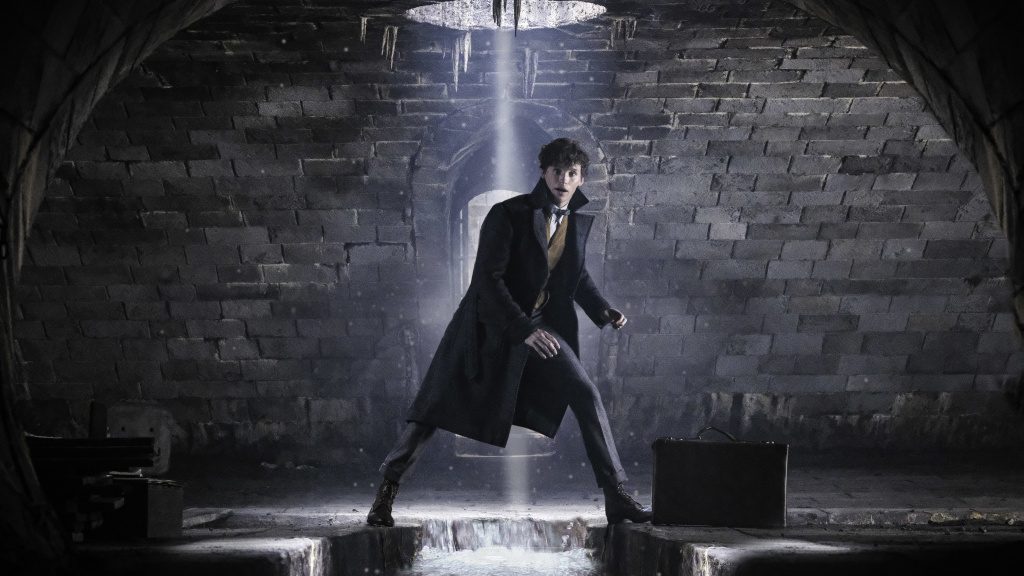 Back on my beast: Eddie Redmayne returns to his old, squirrelly tricks as Newt Scamander in<em> Fantastic Beasts: The Crimes of Grindelwald</em>.