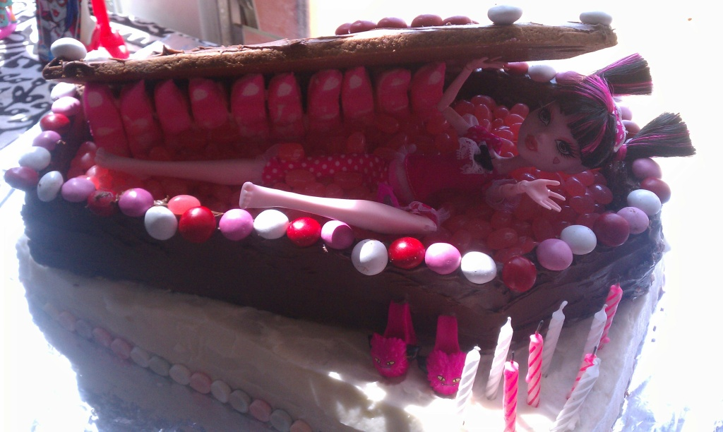 Gordon Henderson's weekend discovery: the coffin cake made by Carol Caplan.